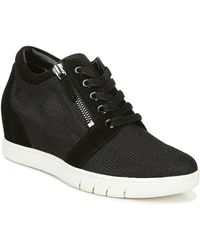 Naturalizer Kai Wedge Sneaker - Black