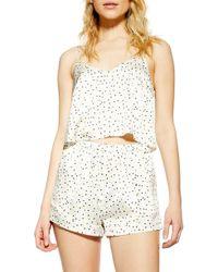 TOPSHOP Leopard Spot Short Pyjamas