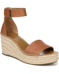 Franco Sarto Clemens Espadrille Wedge Sandal - Brown
