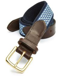 Vineyard Vines - Whale Club Leather & Canvas Belt - Lyst