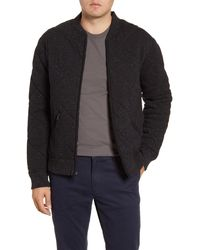 Bonobos Slim Fit Quilted Bomber Jacket - Black