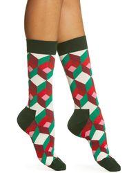 Happy Socks Optic Socks - Green