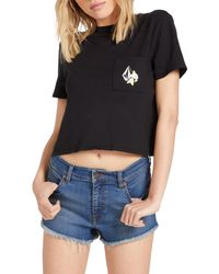 Volcom - Pocket Dial Graphic Tee - Lyst