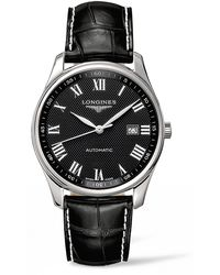 Longines - Master Automatic Alligator Leather Strap Watch - Lyst
