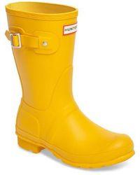 HUNTER - 'original Short' Rain Boot - Lyst