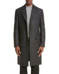 Maison Margiela - Wool Blend Double Cloth Topcoat - Lyst