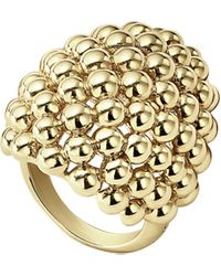 Lagos Caviar Gold Collection 18k Gold Dome Ring - Metallic