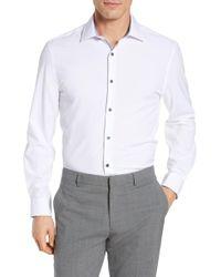 W.r.k. - Trim Fit Solid Performance Stretch Dress Shirt - Lyst