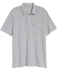 Vineyard Vines - Striped Linen & Cotton Polo - Lyst