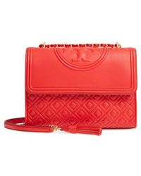 Tory Burch | Fleming Leather Convertible Shoulder Bag | Lyst