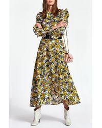 Essentiel Antwerp Zilby Floral Long Sleeve Ruffle Dress - Multicolour