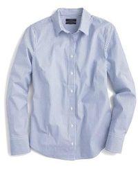 J.Crew | J.crew Classic Stripe Stretch Perfect Cotton Shirt | Lyst