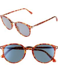 Persol - 51mm Round Sunglasses - Lyst