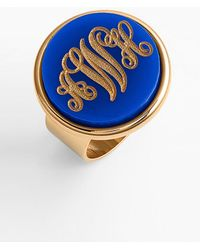 Moon & Lola - 'vineyard' Personalized Monogram Ring - Lyst