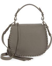 AllSaints Mori Leather Crossbody Bag - Gray