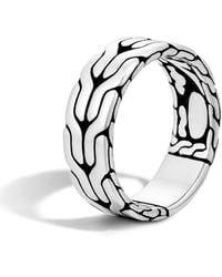 John Hardy Men's Classic Chain Band Ring - Metallic