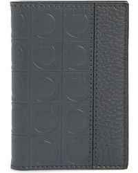 Ferragamo - Firenze Leather Folding Card Case - Lyst