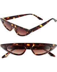 Glance Eyewear 50mm Flat Top Cat Eye Sunglasses - Tort - Multicolor