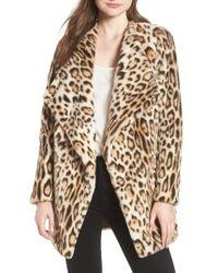 BB Dakota - Leopard Faux Fur Jacket - Lyst