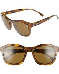 62fa473909 Versace - Medusa 57mm Square Sunglasses - Havana Solid - Lyst