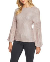 1.STATE - Smocked Sleeve Top - Lyst