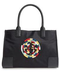 Tory Burch - Mini Ella Embroidered Logo Nylon Tote - Lyst