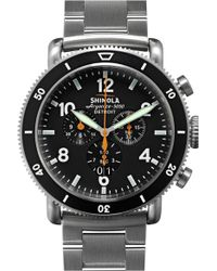 Shinola - 'the Black Blizzard' Chronograph Interchangeable Strap Watch - Lyst