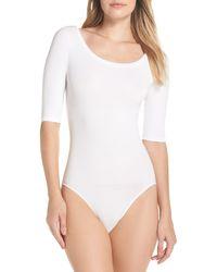 Yummie By Heather Thomson Ballet Bodysuit - White