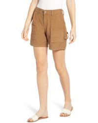 Citizens of Humanity 'leah' Twill Boyfriend Shorts - Natural