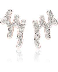 Monica Vinader - Riva Waterfall Diamond Stud Earrings - Lyst