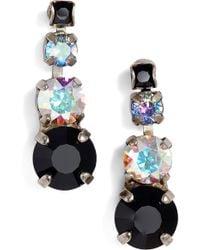 Sorrelli - Descending Round Crystal Linear Earrings - Lyst