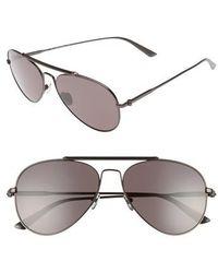 Calvin Klein   58mm Aviator Sunglasses - Satin Titanium   Lyst