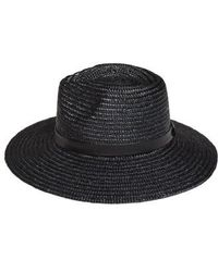 Amuse Society Don't Look Back Straw Hat - - Black