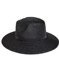 Amuse Society Don't Look Back Straw Hat - Black