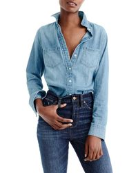 J.Crew Everyday Chambray Shirt - Blue