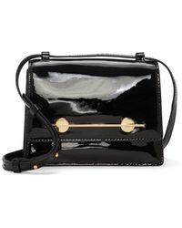 Vince Camuto Maeve Patent Leather Shoulder Bag - Black
