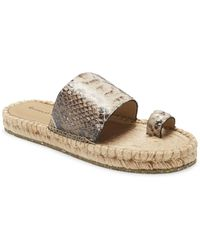 Chocolat Blu Bola Animal Print Espadrille Slide Sandal - Multicolor