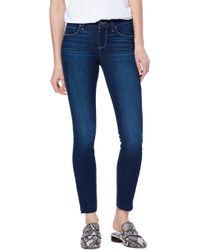 PAIGE - Transcend Vintage - Verdugo Raw Hem Ankle Skinny Jeans - Lyst