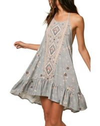 O'neill Sportswear - Sonoma Print Halter Dress - Lyst