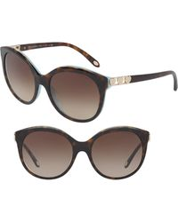 2b1f86a2b0b Lyst - Tiffany   Co Tiffany Women s Tf4047b 55mm Polarized Sunglasses