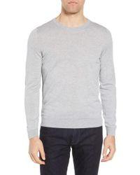 BOSS - Leno Slim Fit Crewneck Sweater - Lyst