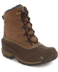 The North Face 'Chilkat III' Waterproof Insulated Snow Boot - Brown