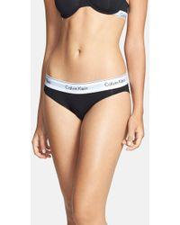 Calvin Klein - 'modern Cotton Collection' Cotton Blend Bikini - Lyst