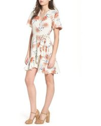 Lush - Lucy Floral Wrap Dress - Lyst