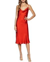 6690af94e31a Fraiche By J Velvet Slipdress in Red - Lyst