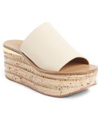Chloé - Camille Cork Platform Sandal - Lyst
