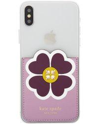 Kate Spade - Floral Sticker Pocket - Lyst