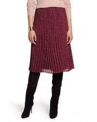 Halogen Halogen Pleated Skirt - Red