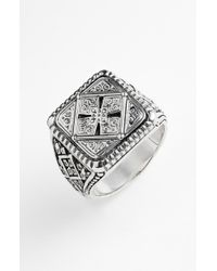 Konstantino 'classics' Cross Square Ring - Metallic