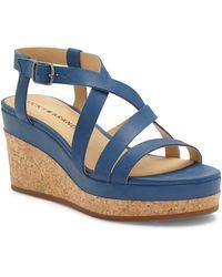 Lucky Brand Batikah Strappy Wedge Sandal - Blue